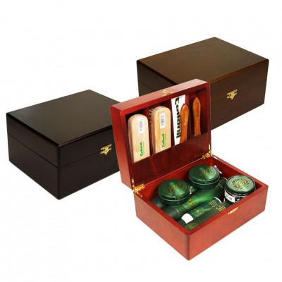 Шкатулка деревянная с набором обувной косметики COLLONIL 1909 для гладкой кожи