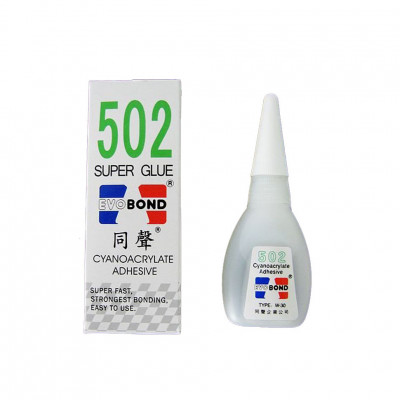 Супер клей Super Glue 502 EVOBOND, флакон, 20 г.
